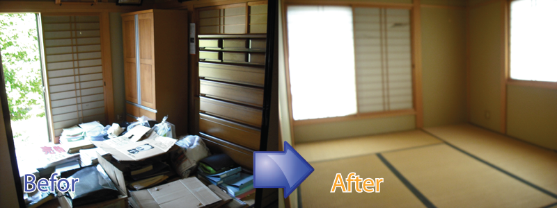 滋賀県でごみ屋敷の片付けの事ならお任せください