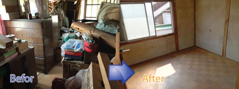 滋賀県で不用品回収・遺品整理・ごみ屋敷の片付け・特殊清掃ならお任せください